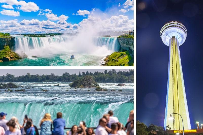Ab New York: 2-tägige Niagara Falls Bahn- und Flugtour