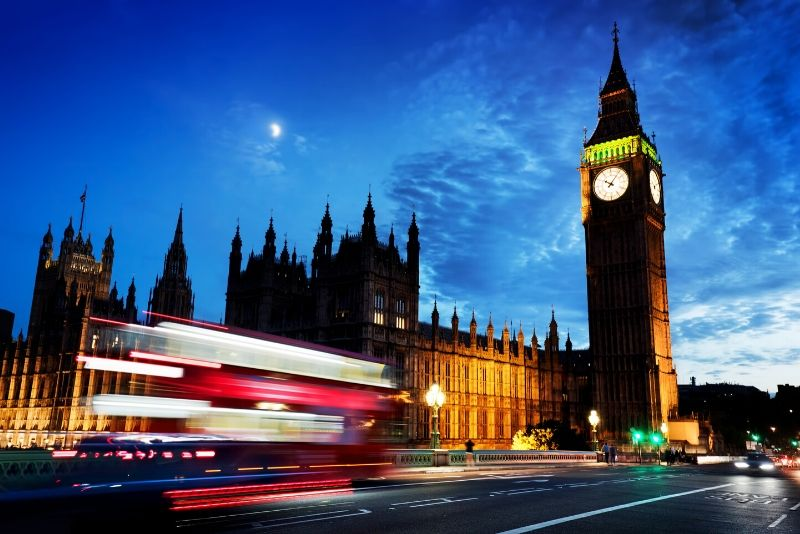 London by Night 90-Minute Open Top Bus Tour