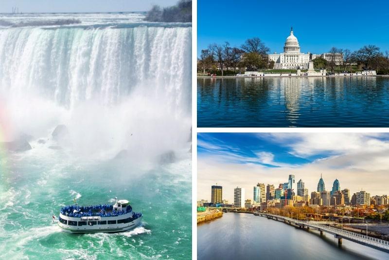 Niagara Falls 2-Day Tour plus Washington & Philadelphia
