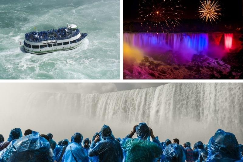 Niagara Falls, Kanada: Fällt bei Tag und Nacht mit Abendessen