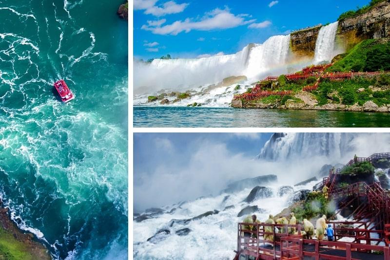 """Cataratas del Niágara, Canadá Viaje en grupo con """"Viaje detrás de las cataratas"""" y """"Viaje a las cataratas"""""""