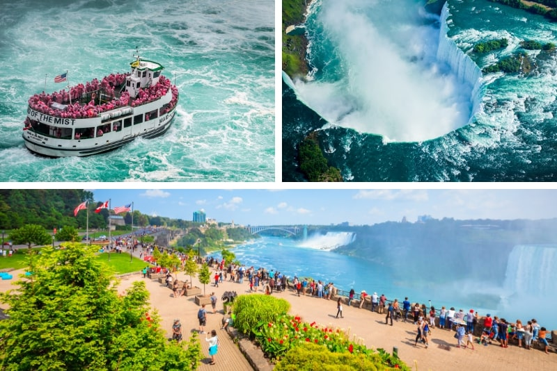 Niagara Falls Tour der amerikanischen und kanadischen Seite