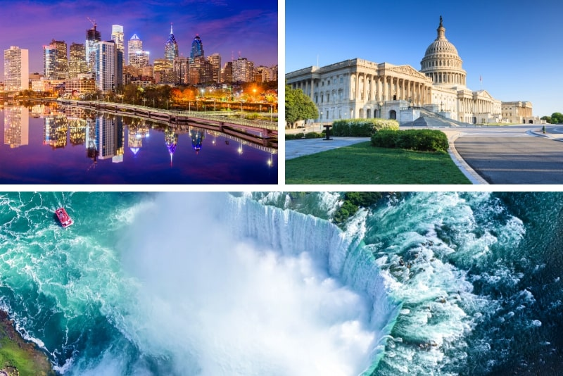 Niagara Falls, Washington DC, Philadelphie, visite de 4 jours au départ de New York