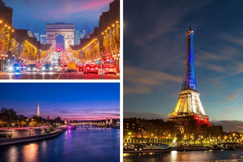Paris Tour, crucero y Torre Eiffel de noche