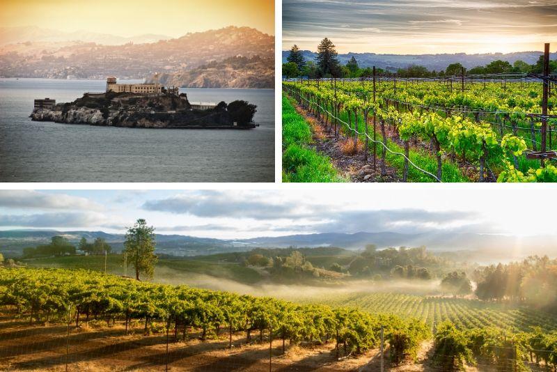 San Francisco: tour combinado de 2 días por Alcatraz y Wine Country