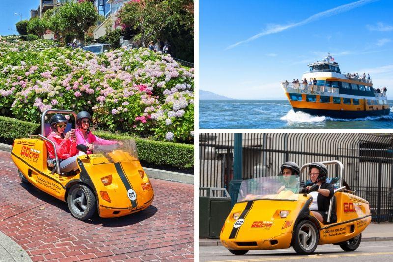 Paquete de aventura de Alcatraz y GoCar de todo el día en San Francisco