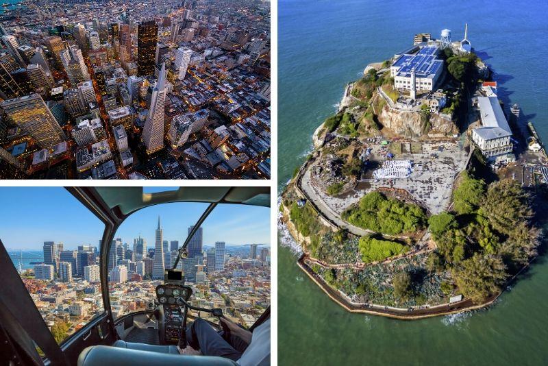 Tour en helicóptero de San Francisco y Alcatraz