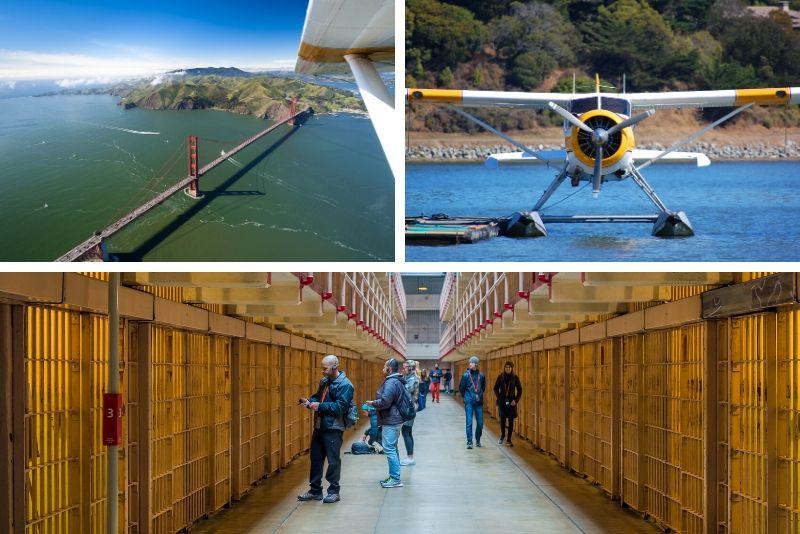 Vuelo en hidroavión + crucero Alcatraz y tour combinado