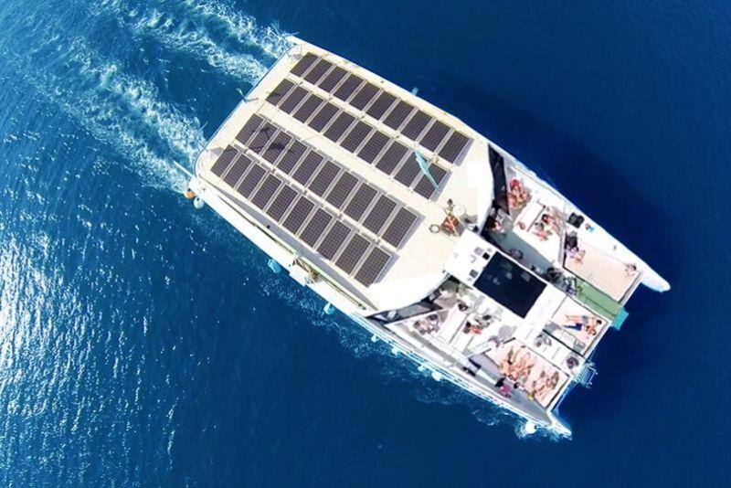 Catamaran Trip along Port Vell in Barcelona