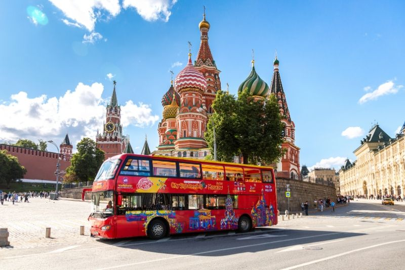 City Sightseeing Moscow Hop-On Hop-Off Bus Tour with Optional Cruise