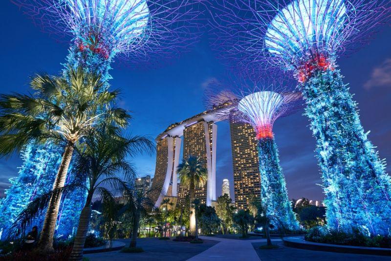 Gärten an der Bucht und Marina Bay Sands
