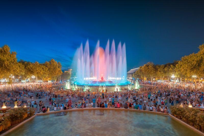 Tour notturno della fontana magica di Montjuic