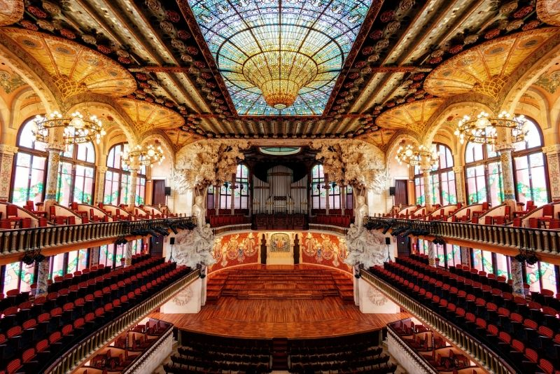 Tour guidato del Palau de la Música Catalana: salta la coda