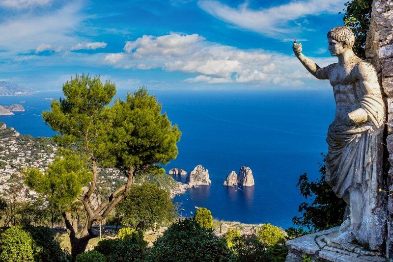 Tour di un'intera giornata a Capri e Pompei da Napoli