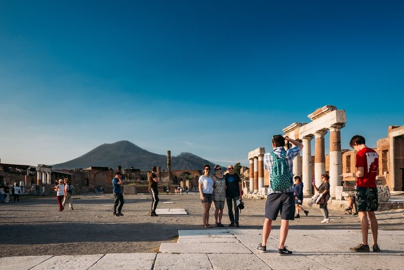 Gita di un giorno a Pompei su un pullman con aria condizionata