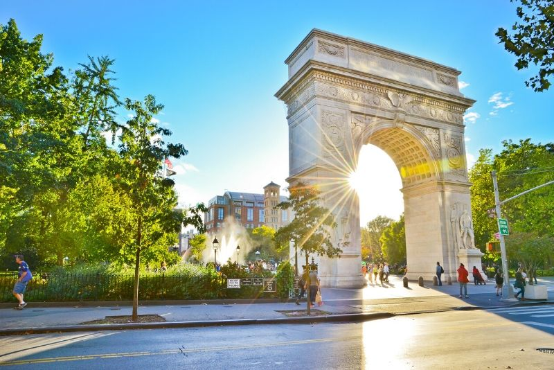 Washington Square Park New York TV & movie tours