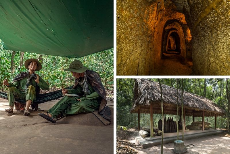 What will I see at the Cu Chi tunnels?