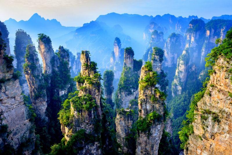 Parque forestal nacional de Zhangjiajie, China