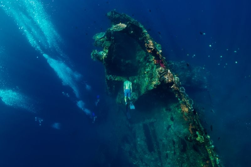 shipwreck freediving