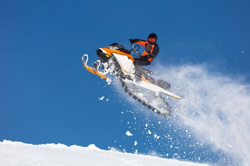 snowmobile riding