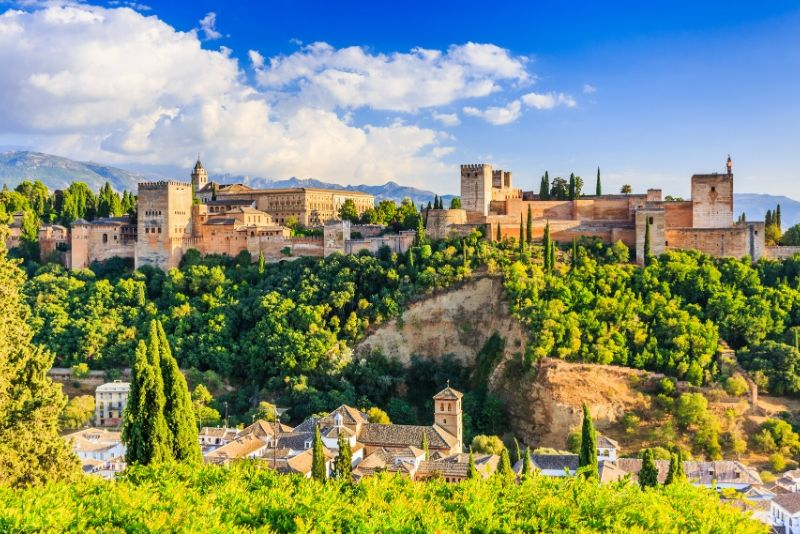 Alhambra, Generalife and Albayzín of Grenada, Spain - best castles in Europe