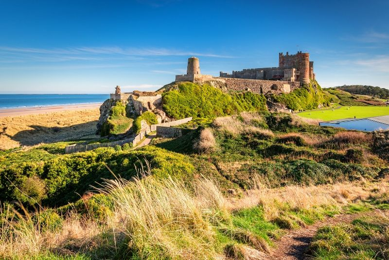 Bamburgh Castle, England - best castles in Europe