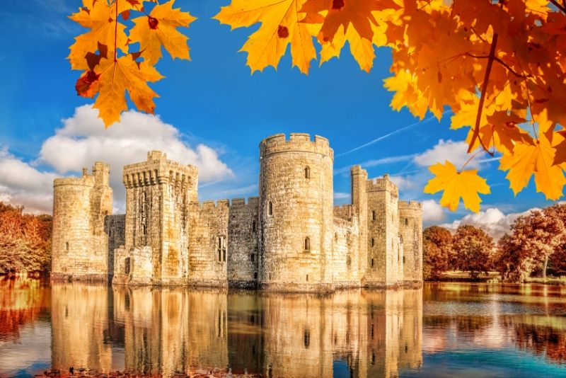 Bodiam Castle, England - best castles in Europe