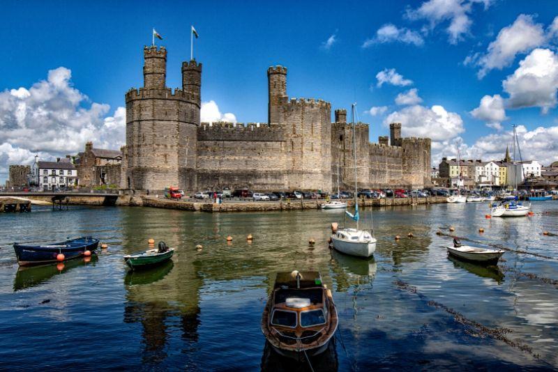 Caernarfon Castle, Wales - best castles in Europe