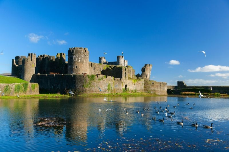 Caerphilly Castle, Wales - best castles in Europe