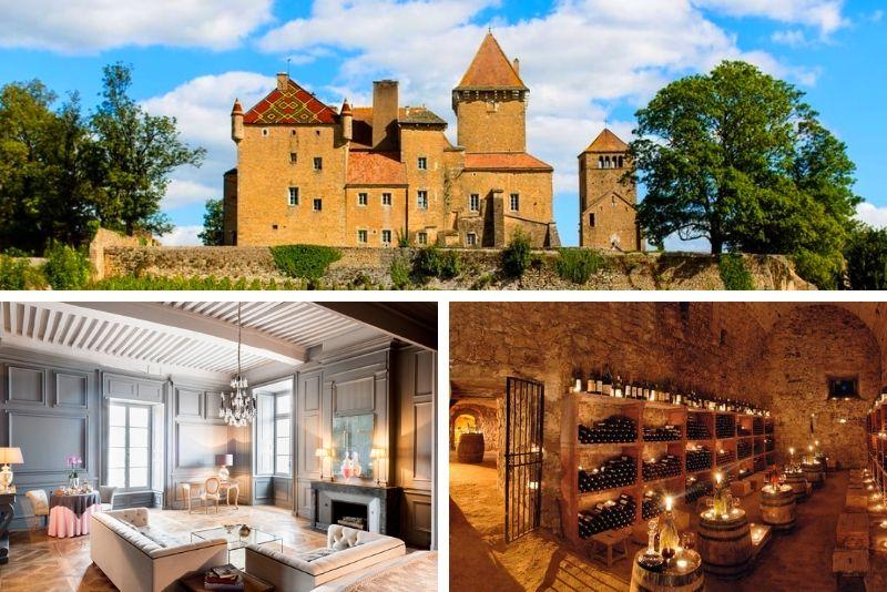 Découvrez le château de Pierreclos- #18 Hébergements insolites en France
