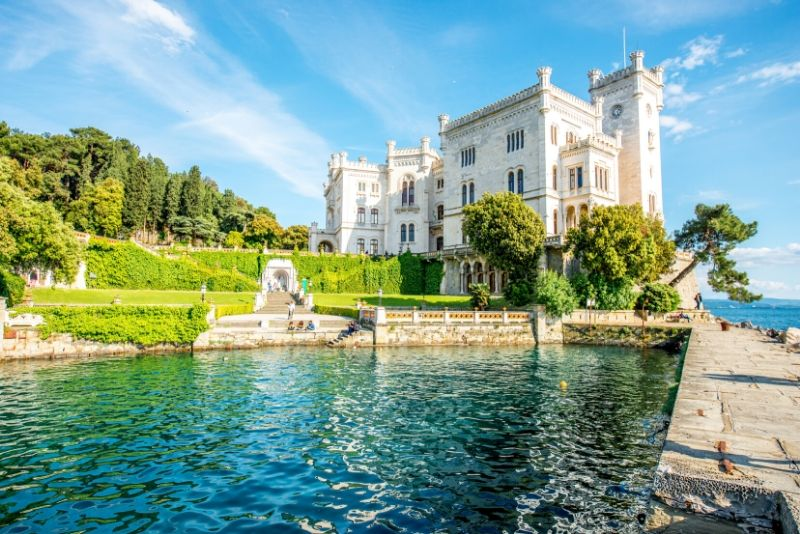 Miramare Castle, Italy - best castles in Europe