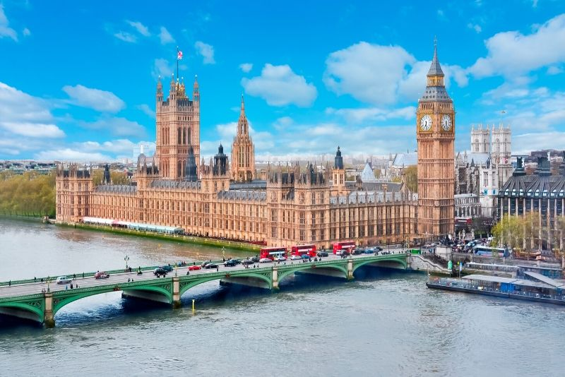 Palace of Westminster, England - best castles in Europe