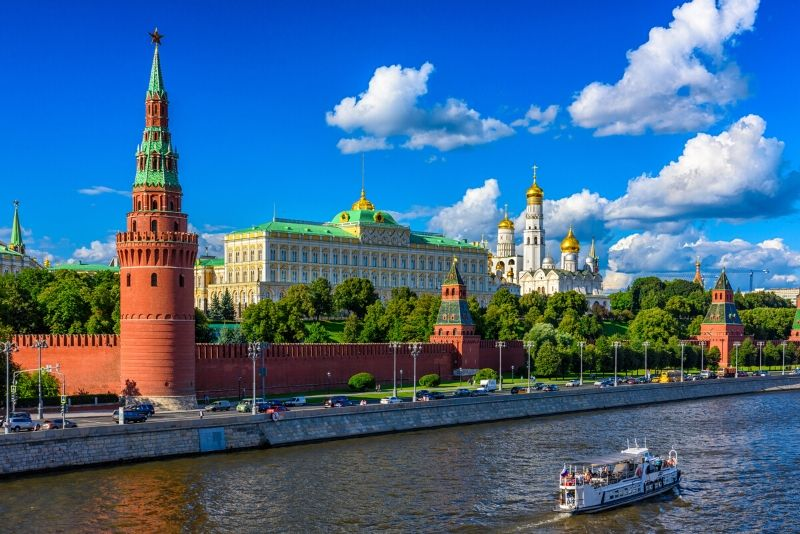 The Moscow Kremlin, Russia - best castles in Europe