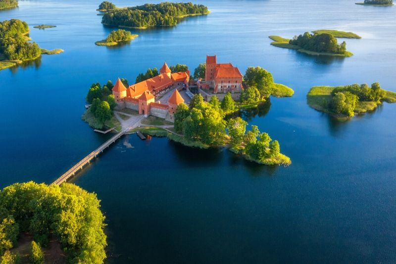 Trakai Island Castle, Lithuania - best castles in Europe