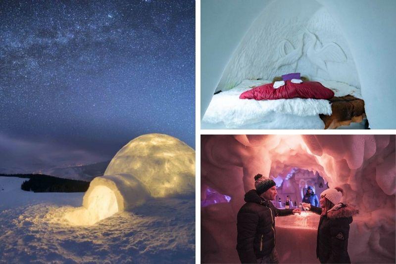 Vivez une nuit inoubliable dans un igloo- #26 Hébergements insolites en France