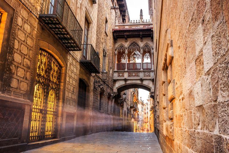 Tour exclusivo a pie por el barrio gótico gratuito