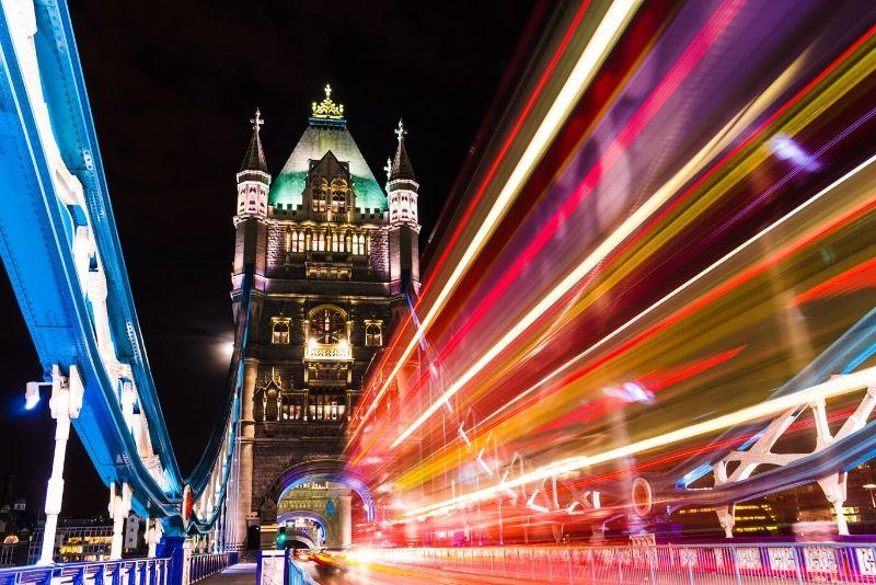 Tour a piedi notturno di Londra