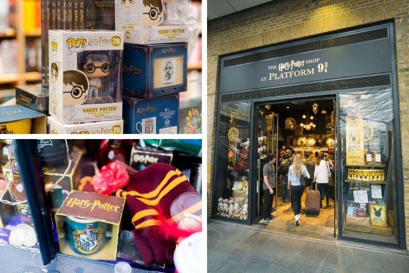 La tienda de Harry Potter en la plataforma 9 ¾