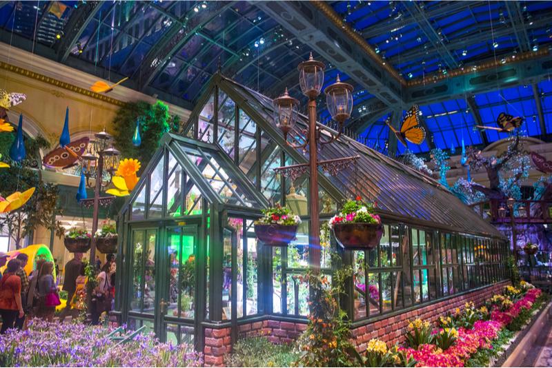 Invernadero y jardín botánico Bellagio