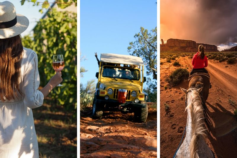 Camp Verde Combo: African Ambush Jeep Tour, Horseback Ride, and Winery