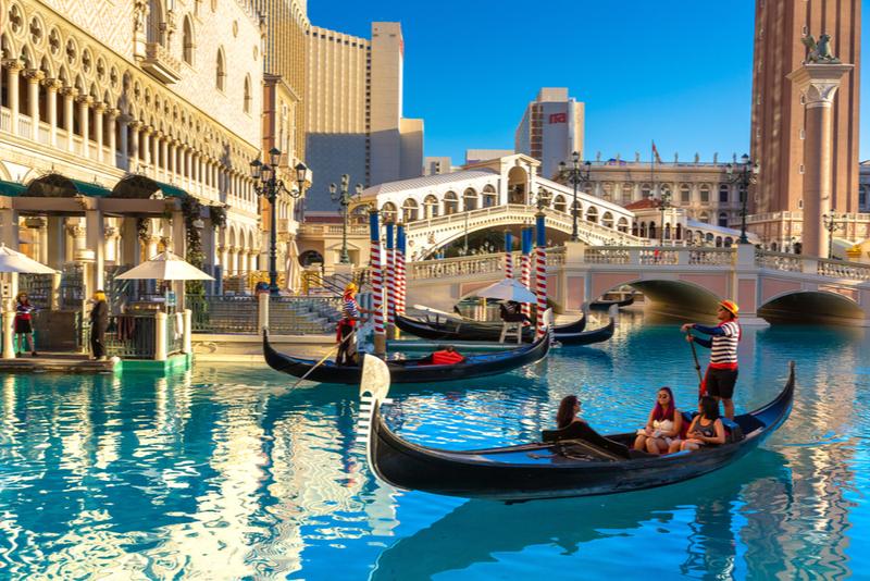 Paseo en góndola en el Venetian