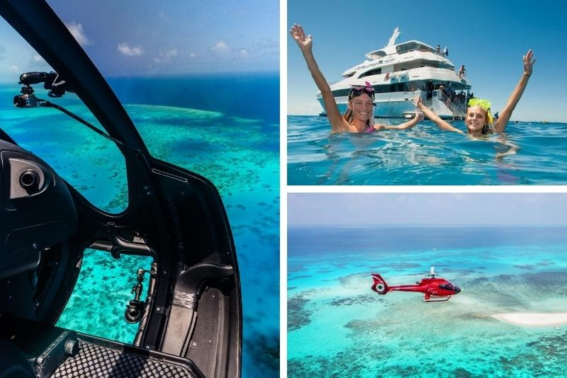 Great Barrier Reef Scenic Helicopter Tour and Cruise from Cairns