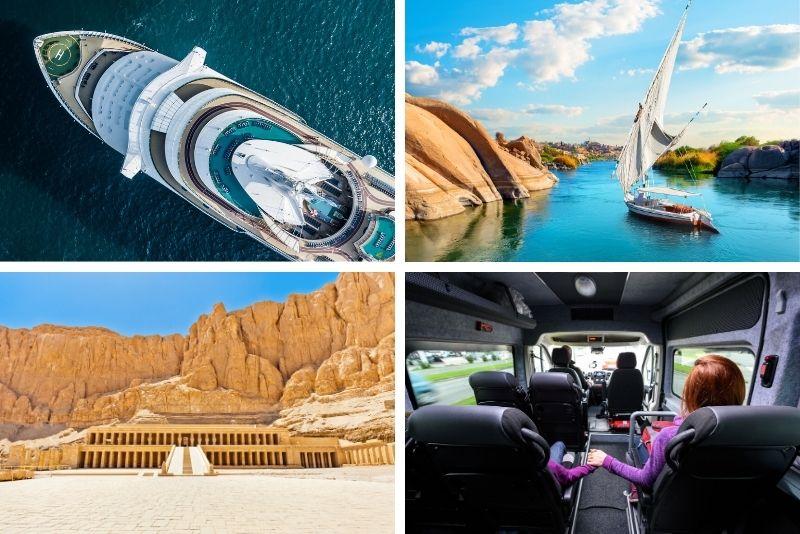Einschlüsse für Nilkreuzfahrten