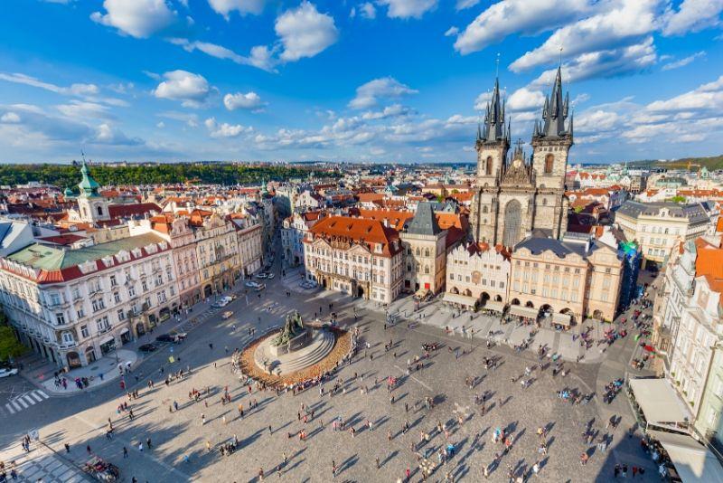 Treffpunkt für Free Walking Tours in Prag
