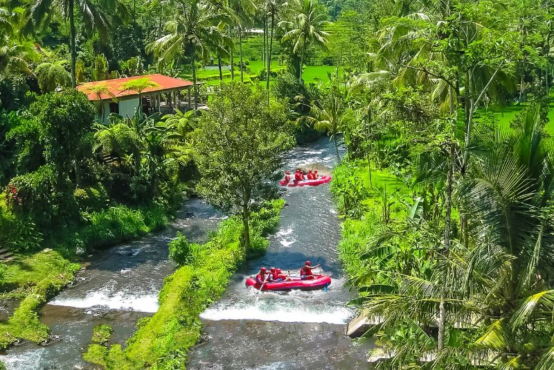 rafting for nature lovers in Bali