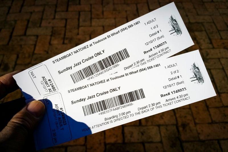 steamboat Natchez cruise tickets price