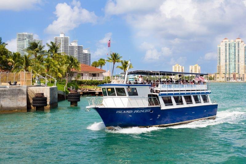 Crucero por la bahía de Biscayne en Miami, Florida