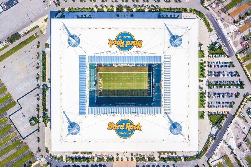 Delfines de Miami en el Hard Rock Stadium de Miami, Florida