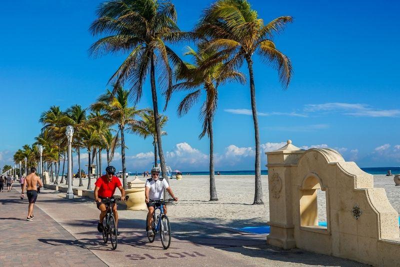 recorrido en bicicleta Hollywood Beach Broadwalk