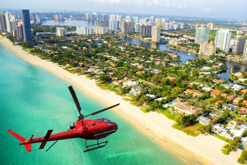 helicopter tour in Miami, Florida